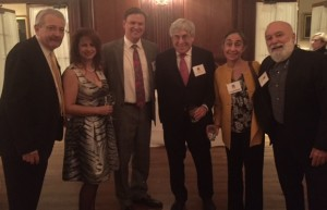 Dental industry leaders with Dr. Jack at the Shils board reception.