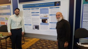 Dr. Jack joins ASDOH student, Jacob Berger, at his poster presentation.