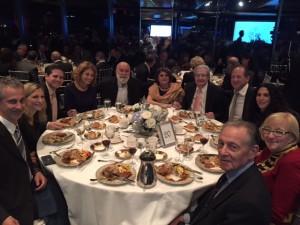 Dr. Jack joins Dr. Allen Finkelstein's family at the DVI awards dinner where Dr. Finkelstein was honored.