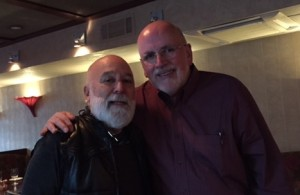 Dr. Jack visits with former Dean and provost at NYU, Dr. Mike Alfano.