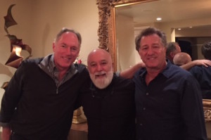 Dr. Jack Dillenberg joins Dr. Reed Day (Jack's former student at Harvard) and Dr. Bruce Etkin (Jack's dental school colleague) for dinner at Bruce and Micheline's home.