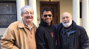 Alan, Mark Consuelos and Jack meet up on the street.