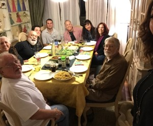 The Dillenberg family gets together for their annual Christmas gathering.