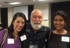 Dr. Jack celebrates with alums/faculty members, Drs. Mai-Ly Duong and Seena Patel.