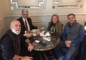 Drs. Jack Dillenberg, Tony Hashemian, Raman Bedi with Robyn Watson, President-elect of the IFDH preparing for the conference.