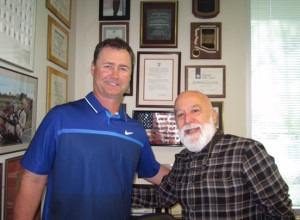 Scott Servais, the General Manager for the Seattle Mariners visits Dr. Jack after his dental appointment.