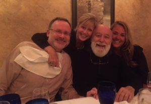 Dr. Jack joins Edgar, CEO of Bien-Air, Switzerland, and Midmark's Marla and Tiffany at dinner.