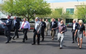 The Advisory Board members tour ASDOH clinics.