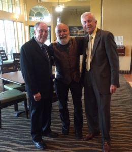 Dr. Feinberg, Dr. Jasper and Dr. Dillenberg celebrate at the OKU convocation.