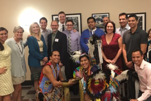 ASDOH faculty members/speakers at the conference joined in the American Indian celebration.