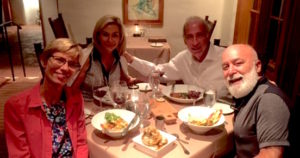 Dr. Jack and Jamie join Chic Older, Executive Director of the Ariz. Medical Association, and his wife Jeanie for dinner.