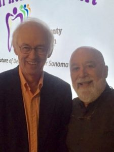 Friend and community fluoridation expert, Dr. Howard Pollack, reconnects with Dr. Jack at the Summit.