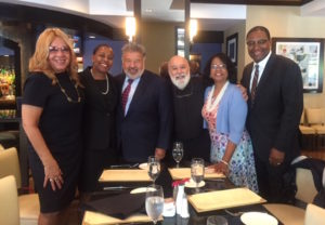 Dr. Jack enjoys lunch with friends and colleagues at the NDA event.