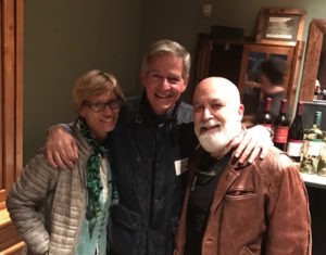 Dan Perkins, CEO of AEGIS Communication, celebrates with Jack and Jamie at the PDS Institute meeting.