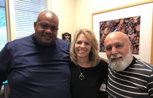 Pastor David Wade of the historic black church, Mt. Calvary Baptist Church, comes to visit Dr. Jack and Heather Johnson regarding collaborating efforts.
