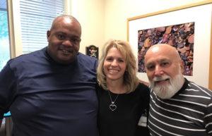 Pastor David Wade of the historic black church, Mt. Calvary Baptist Church, comes to visit Dr. Jack and Heather Johnson regarding collaborating efforts.