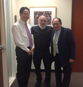 Dr. Jack Dillenberg and Jay Park welcome Dr. Elliot Moskowitz, a world famous orthodontist to ASDOH, who also happens to be a friend from Dr. Jack's dental school days.