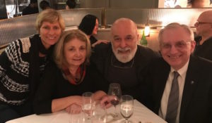 NYU Dental Dean, Dr. Charles Bertolami and his wife, Linda, meet for their annual dinner celebration in New York.