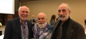 Dr. Jack joins Dr. Hal Slavkin and Dr. Myron Allukan after Dr. Slavkin's presentation.