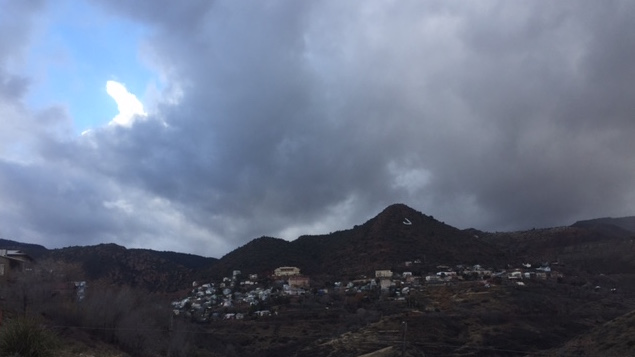 Dean Dillenberg rings in the New Year in Jerome, Arizona